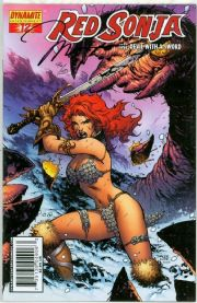 Red Sonja #12 Lee Cover Dynamic Forces Signed Jim Lee DF COA Ltd 50 Dynamite
